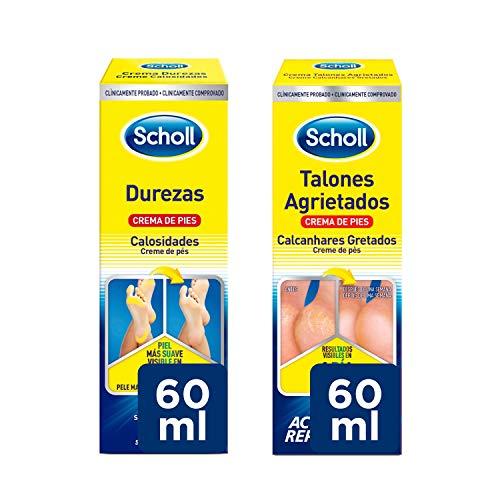Scholl Crema de Pies para Durezas 60ml + Crema de Pies Para Talones Agrietados 60ml