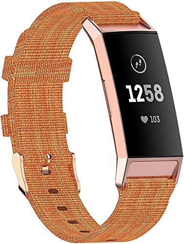 Classicase Compatible con Fitbit Charge 4 / Charge 4 SE/Charge 3 SE/Charge 3 Correa de Reloj, Pulsera Deportivo de Reloj de Nylon, con Cierre de Clip, Respirable y Reemplazable (Pattern 1)