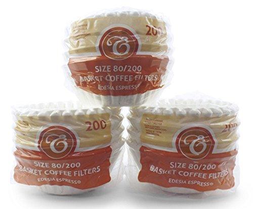600 Stück 80/200mm Korbfilter Kaffeefilter - kompatibel mit Beem, Cuisinart, Phillips, Gastroback usw.