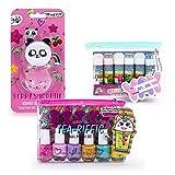 Tri-Coastal Design - Kit de bain cosmétique Sugar Sweetie Girls avec des baumes à lèvres parfumés pour enfants, des dosettes de baume à lèvres et un kit de vernis à ongles (Sugar Sweetie)