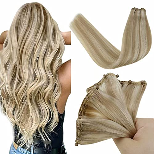 LaaVoo Micro Loop Beads Silicone Unsichtbar Aschblond Highlighted Gebleichtes Blond 12