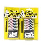 Velas de celebración de estilo retro, reencendido de velas de cumpleaños. Paquete de 2, 20 Velas Mágicas.