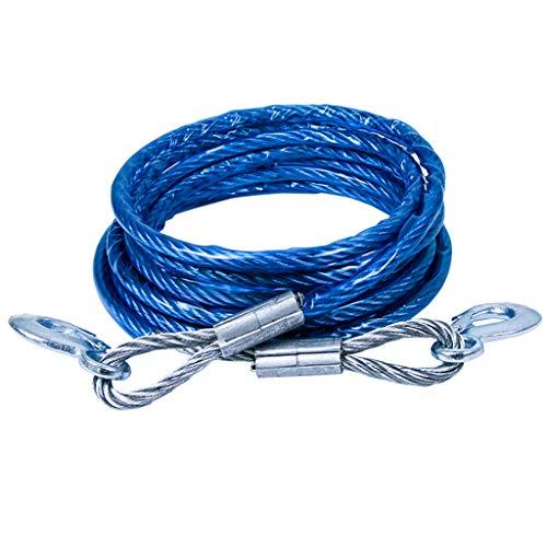 Corde de traction de voiture en métal, corde de remorquage forte de dommages de voiture de câble métallique de voiture de SUV (Couleur : A-600 * 1.4CM)