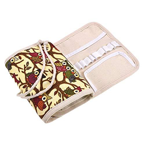 Estuche de ganchillo, bolsa de almacenamiento de viaje para diversas agujas de ganchillo y accesorios, ligero y todo en un lugar, fácil de transportar Bolsa de Ganchillo de Punto (Multicolor)