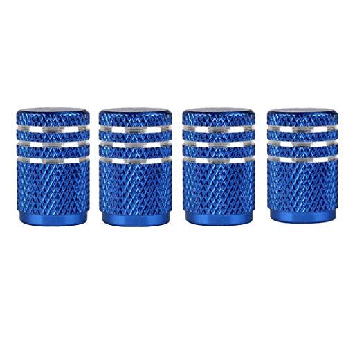 4 unids/Lote Tapas de válvula de neumático de aleación de Aluminio Universal para Cubierta de vástago de válvula de Bicicleta de Coche Blue