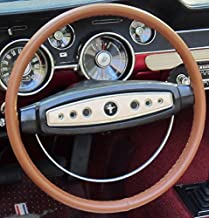 product image for Wheelskins Genuine Leather Tan Steering Wheel Cover Compatible with Volvo Vehicles -Size C