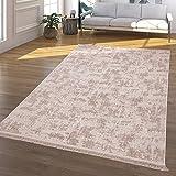TT Home Alfombra Salón Pelo Corto Lavable Diseño Marroquí Moderna En Beige, Größe:150x230 cm