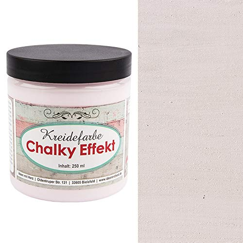 Ideen mit Herz Chalky Effekt Kreidefarbe, 250ml | hochdeckend | ultramatt | auf Wasser-Basis | Kreide-Farbe für Shabby-Chic & Vintage-Effekt (pastellrosa)