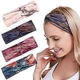 Fashband Boho Stirnbänder für Frauen Mode geknotete Stirnbänder Drucken Elastische Haarwickel...