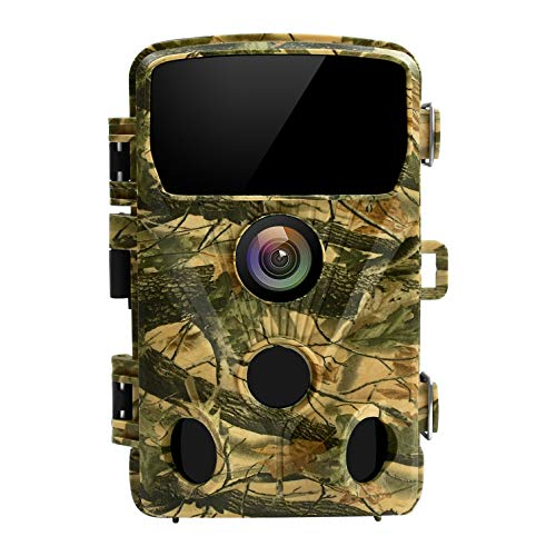 LETSCOM 14MP Trail Game Camera 0.4S Trigger Speed,HD Wildlife Scouting Cam 42 No-Glow IR LEDs, 120° Detection Angle for Hunting and Outdoor Surveillance Yellow