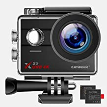 Campark Native 4K Action Camera WiFi Underwater Camera 30M Ultra HD Camcorder 16MP 170° Wide Angle with GoPro Compatible Accessories