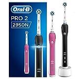 Oral-B PRO 22950N CrossAction Spazzolino Elettrico Ricaricabile con 2 Manici Connessi, di cui 1...