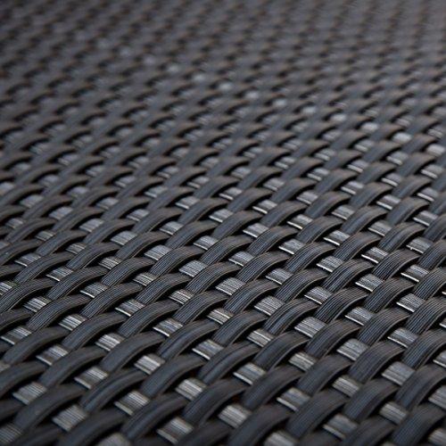 Frangivista da terrazza in rattan sintetico, protezione color antracite con 0,9m di larghezza, merce al metro