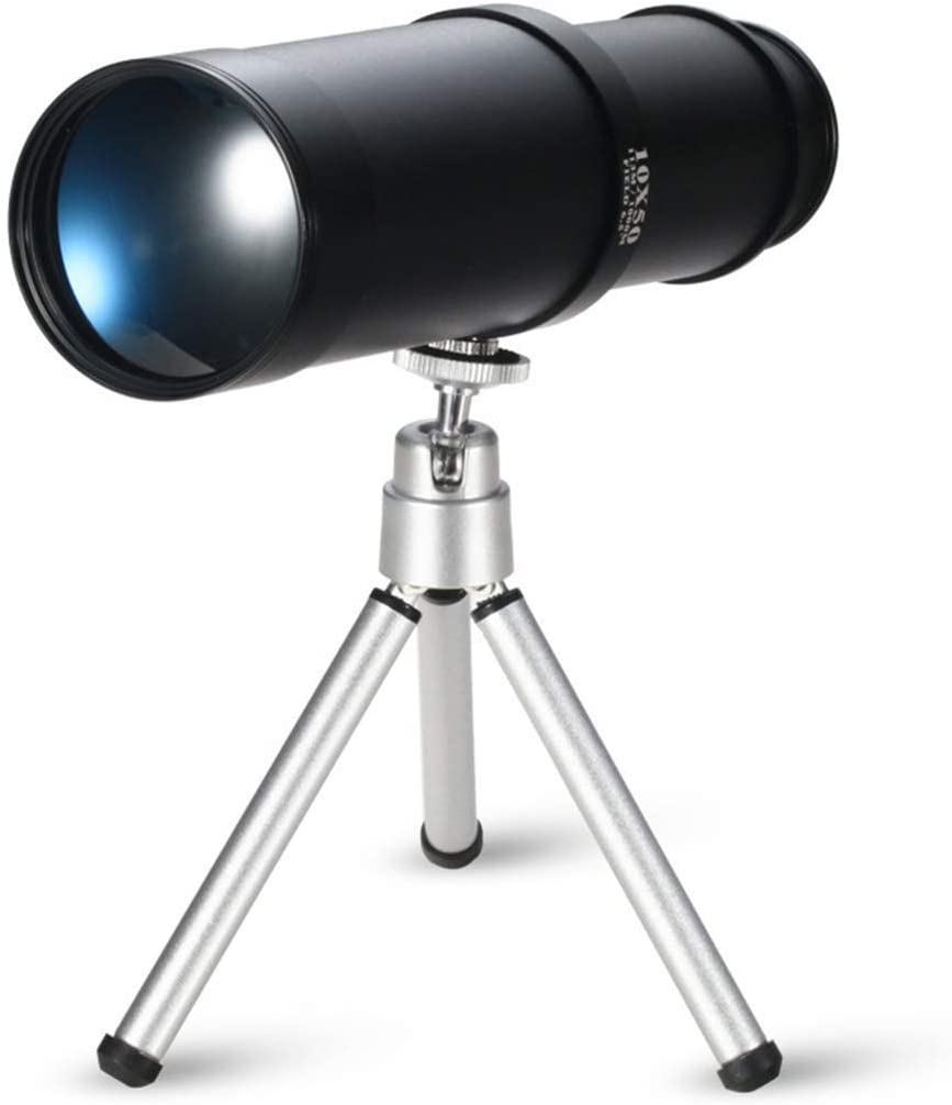 TRYING Telescope Monocular Max 75% OFF 10X50 Rare with High-Definition Stand View
