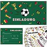 Postkartenschmiede Fussball Einladungskarten mit Umschlägen (12er-Set) - Einladung zum Kindergeburtstag - Junge