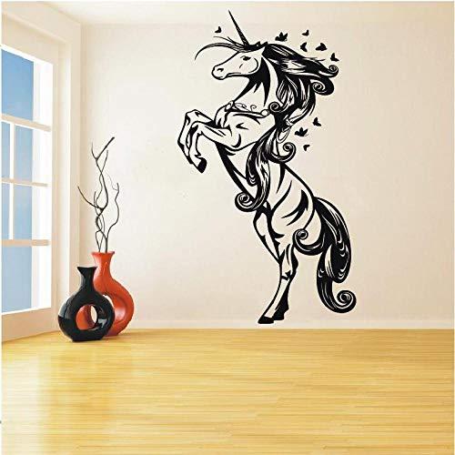 hetingyue cartoon eenhoorn paard kinderkamer meisjes kamer wandtattoo decoratie sticker vinyl kunst muurschildering