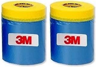 3M Automotive Best Masking Tape Painting, Tape'n Drape Pre-Taped Masking Film (2 of Set (17.7 inch))