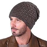 XIAOYAO Cappello invernale Uomo Berretti in maglia da Dona Caldo Beanie per Sci/Bici/Moto (marrone)