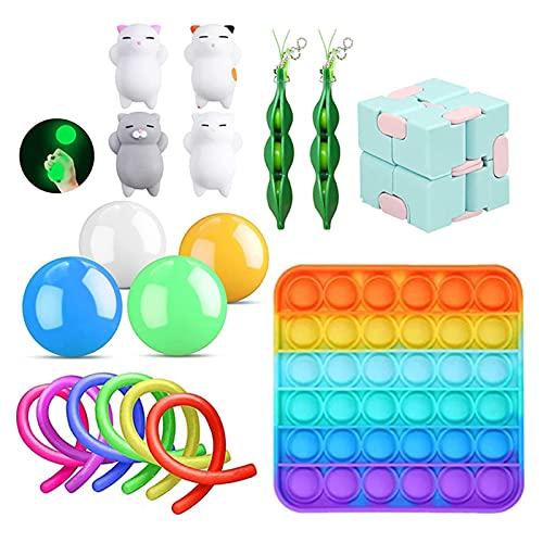 Bingdong Sensory Fidget Toy Set Alivio del estrés y Anti Ansiedad Pack para Adolescentes Niños Adultos Mano Pack Juguete Anti Estrés