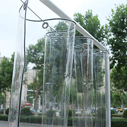Lona Transparente Impermeable con Ojales,Tela Cubierta Película PVC 0.3mm Plegable,Toldos de Prueba de Lluvia,para Coverup Plantas de Jardines,Invernaderos,350/?,Personalizable (1.8x2.5m/5.9x8.2ft)