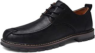SHENTIANWEI Oxford for Men Business Shoes Lace up Microfiber Low Top Collision Avoidance Toe Soft Lightweight Stitched Vegan Rubber Sole (Color : Black, Size : 6.5 UK)