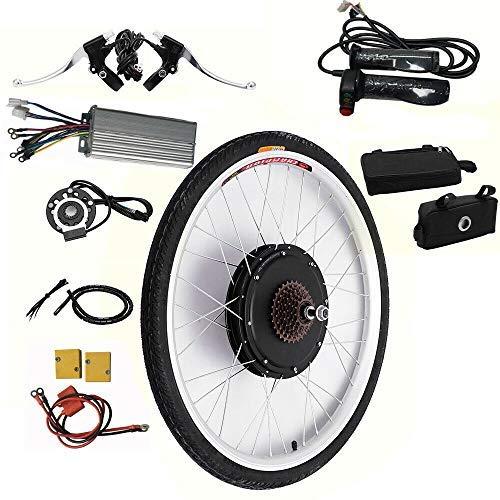 Kit de conversión para bicicleta eléctrica de 26 pulgadas, motor trasero, 48 V, 1000 W, kit de conversión de bicicleta eléctrica, kit de conversión de motor eléctrico