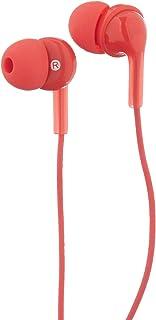 Amazon Basics Écouteurs intra-auriculaires avec micro - Rouge