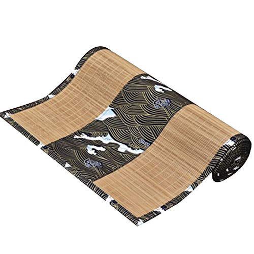 Chemin De Table Japonais en Bambou avec Motif, Longs Napperons D