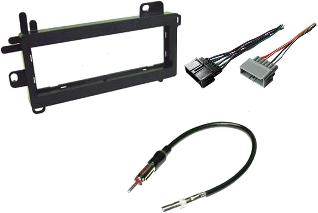 amazon.com: carxtc combo fits jeep wrangler 1997 1998 1999 2000 2001 2002  stereo wiring harness, dash install kit faceplate, with fm antenna adaptor  (aftermarket stereo wire and installation kit) : electronics  amazon.com