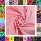 maDDma 5m Futterstoff Breite 148cm, Farbwahl, Farbe:rosa