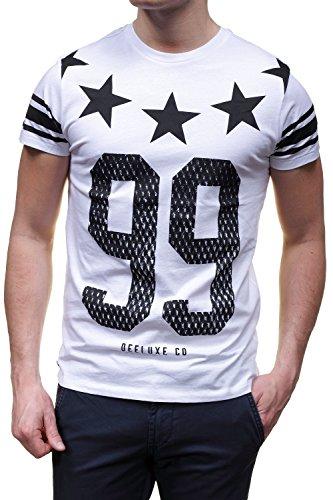 Deeluxe Maglietta Stars S15199 TS, Colore: Bianco Bianco M