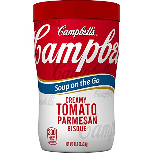 Campbell's Soup on the Go, Creamy Tomato Parmesan Bisque, 11.1 oz (Pack of 8)