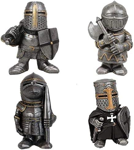 Ebacastle Knight Max 56% OFF Ranking TOP19 Gnomes Guard Garden K Crusader Medieval Statue-