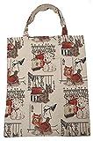 Bowatex Einkaufstasche Beutel Stofftasche Motiv Hunde an der Leine 40 x 32 cm Shopper Bag Tasche Gobelin Royaltex Signare Fa