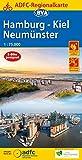 ADFC-Regionalkarte Hamburg/Neumünster/Kiel 1:75.000, reiß- und wetterfest, mit GPS-Tracks-Download (ADFC-Regionalkarte 1:75000)