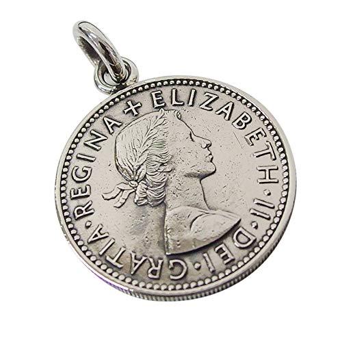 本物のイギリスのコインペンダント(1) コイン 硬貨 アクセサリー メンズ レディース 海外