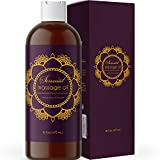 Sensual Massage Oil for Massage Therapy - Natural and Relaxing Massage Oil for Men and Women with Aromatherapy Oils and Lavender Essential Oils for Skin Use - Moisturizing Body Oil for Dry Skin 16 Oz