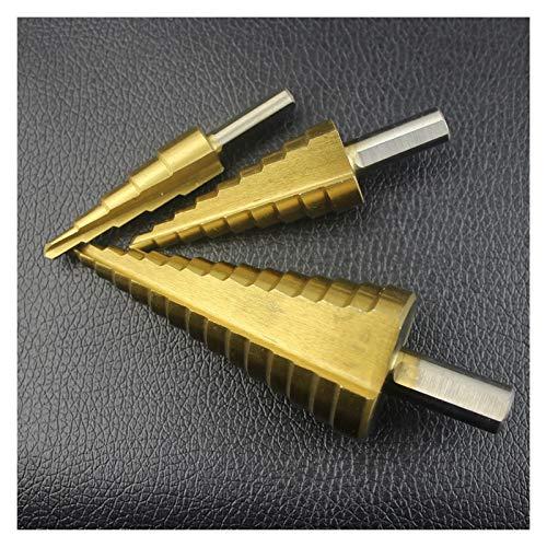 YIJIAN 3Pcs HSS Steel Titanium Step Drill Bit 4-12mm 4-20mm 4-32mm Step Cone Cut Tools Woodworking Wood Metal Drill Bit Set