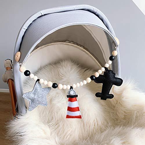 GACYSMD Cochecito Colgante de Madera Cadena de Clip Beads Chapifier Clip Hecho a Mano Play Gym Frame Accesorios de enfermería Crafts Crafts Ideal Ducha Regalo