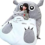 VIVICL Tatami Mattress Mats Cartoon Plush Totoro Lazy Sofa Bed Anime Beanbag Mattress for Children Creative Dormitory Mattress Foldable Small Bedroom Chair,11070cm