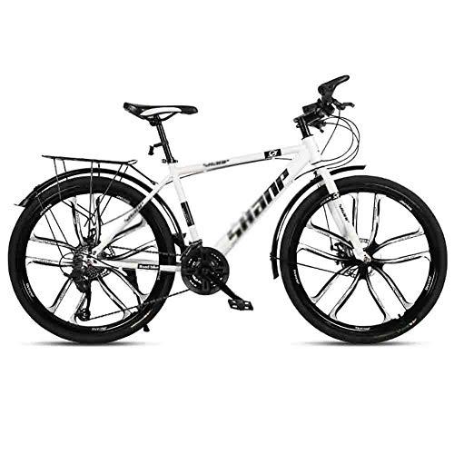 LIUCHUNYANSH Mountain Bike Bicicleta para Joven Camino de la Bicicleta for Adultos Bicicletas Mountain Bike MTB Velocidad Ajustable for Hombres y Mujeres de 26 Pulgadas Ruedas Doble Freno de Disco