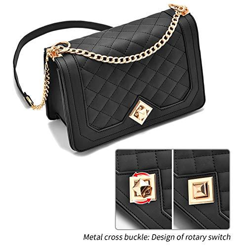 Travistar Bolso de Hombro Pequeña de Mujer Bolso Bandolera Cadena Cruzado Crossbody Bag Cuero PU Bolsos Mano