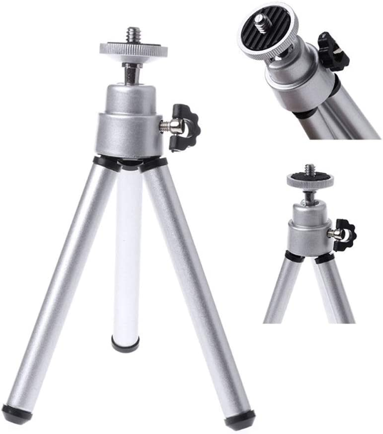 Telescopic 14 cm ~ 20 cm//Load-Bearing 1KG ZXGHS Projector Tripod Mini Tripod for Mini Projector,Black