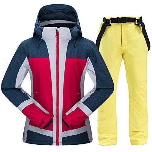 Ropa de esquí Ski juego de las mujeres a prueba de viento impermeable de la chaqueta de esquí snowboard + pantalones calientes del invierno al aire libre juegos de Deportes de Nieve Ski Set Mujer de e