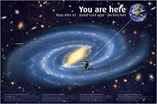 You Are Here Map of Space Nature Astronomy Poster 24 x 36 inches
