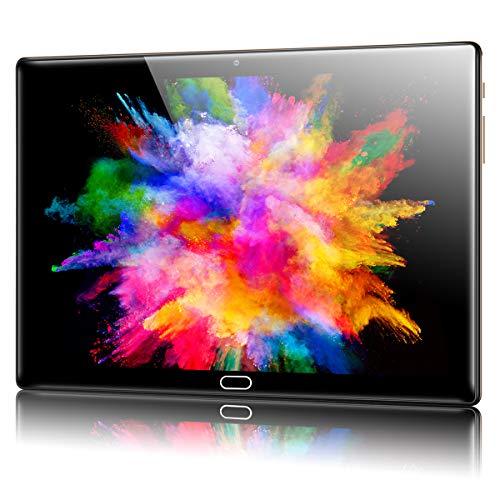 Tablet 10 pollici Android 10.0, Padgene 4G LTE Tablet PC con Octa-Core 4 GB RAM 64 GB, display in vetro 1280 x 800, fotocamera posteriore 8 MP, doppio altoparlante, 5G WiFi, Bluetooth, GPS(oro)