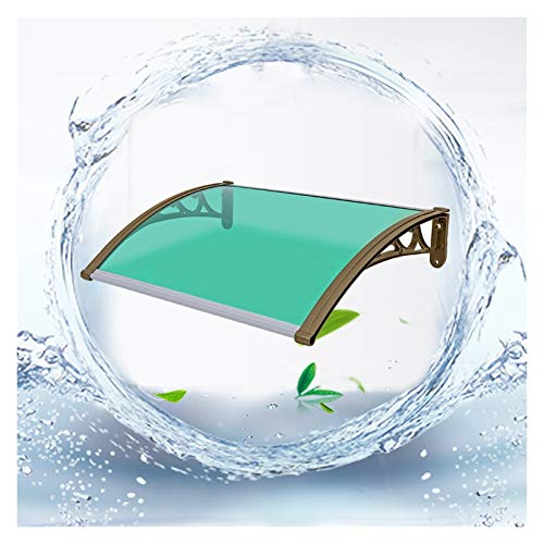 LIANGLIANG Vordach Haustür Überdachung, PC Ausdauerbrett Anti-UV, Stumm Anti-Lärm Starke Tragfähigkeit, Benutzt für Fenster Plakatwand Toreingang (Color : Green, Size : 80x60cm)