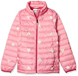 Amazon Essentials Hooded Puffer Jacket Outerwear-Jackets, Rosado Heart, Large