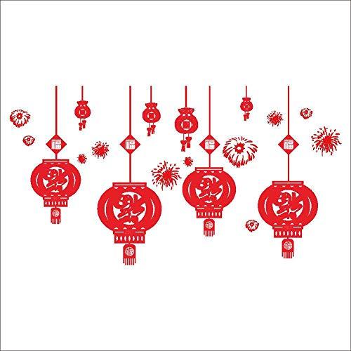 HNIMLL - Adhesivos decorativos para pared de Navidad, para ventanas, cristal, se pueden quitar 2 unidades