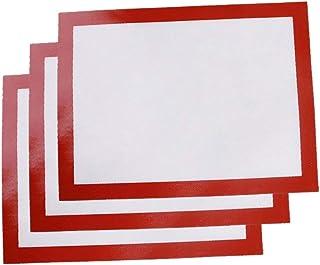 BESTONZON Lot de 3 tapis de cuisson en silicone anti-adhésif pour usage professionnel - Macaron/biscuit/fabrication du pai...